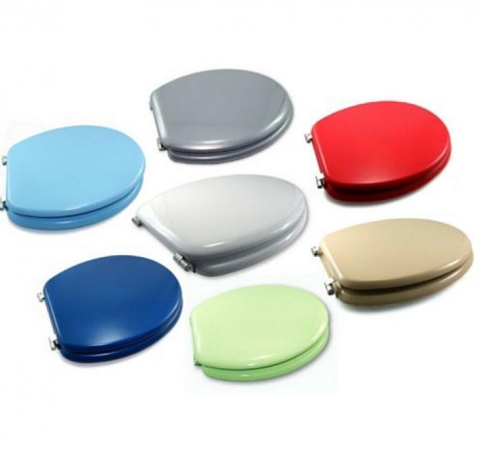 Asientos de inodoros de colores