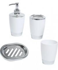 set de accesorios pvc blanco