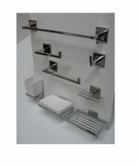 set de accesorios Bronce Cromada