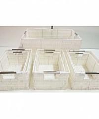 canastas de pvc blanco