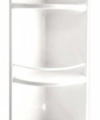 Esquinero de plástico blanco con baranda